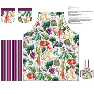 Blissful Bounty | Apron Panel - White | Blank Quilting