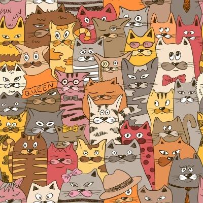 Cats Allover :: Cat Lovers | Fabricart