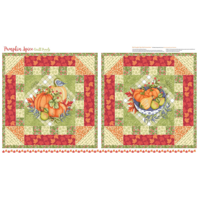 Pumpkin Spice   Panel Mini Quilt - Multi   StudioE Fabrics
