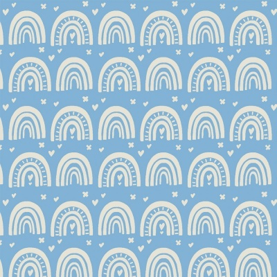 RAINBOW :: BLUE   OVER THE RAINBOW   FABRICART