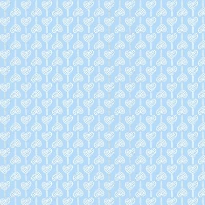Pirulito de Corações Azul Bebé   Basics Baby   Fabricart