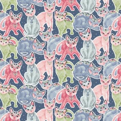 Fancy Cats | Packed Cats | StudioE Fabrics
