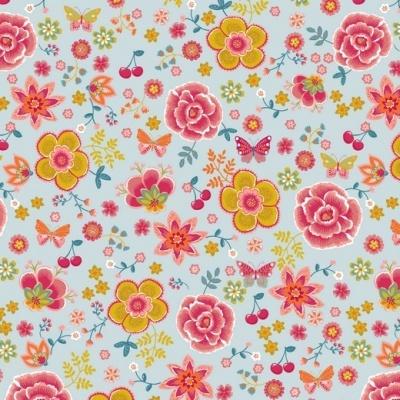 HAPPY FLOWERS | AZUL | PLASTIFICADO