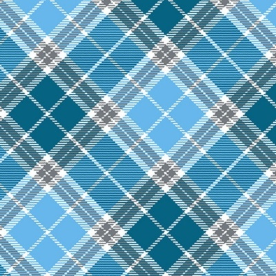 Plaid | Cyan :: Pups in the Garden | Henry Glass