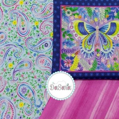Paisley Floral | Light Blue :: Wonderland | Blank Quilting