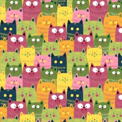 Colorful Cats :: Cat Lovers | Fabricart