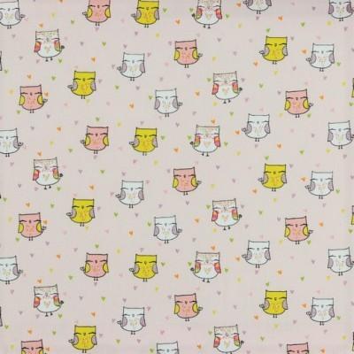 LOVELY OWLS   ROSA CLARO :: GLITTER   POPPY