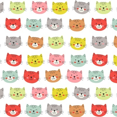Smiley Cats Faces :: Cat Lovers | Fabricart