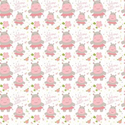 SWEET BABY GIRL :: HIPPOS | WHITE
