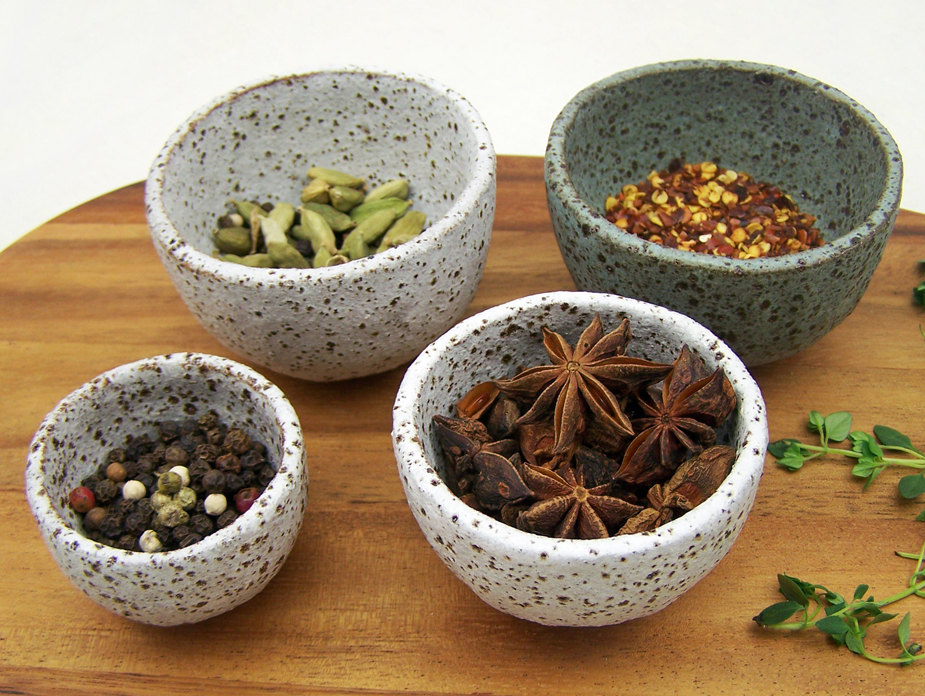 Rustic Spice Bowl Set