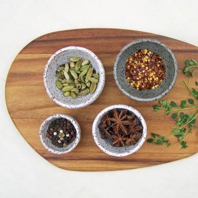 Rustic Spice Bowl Set