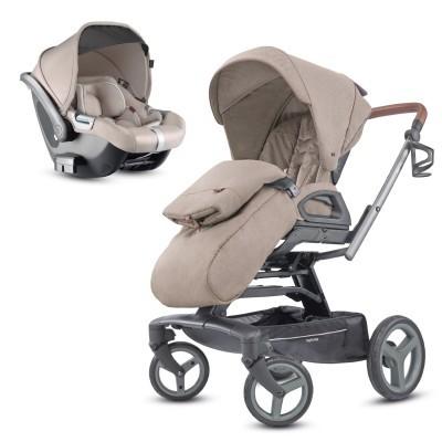 Conjunto duo carro bebé e cadeira auto Inglesina Quad + Inglesina Cab