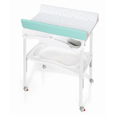 Banheira com muda fraldas Brevi Pratico Bath with changing matress