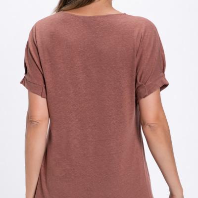 T-shirt em jersey de linho