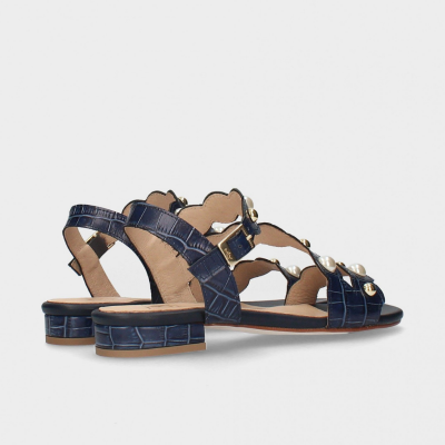 Sandália rasa azul