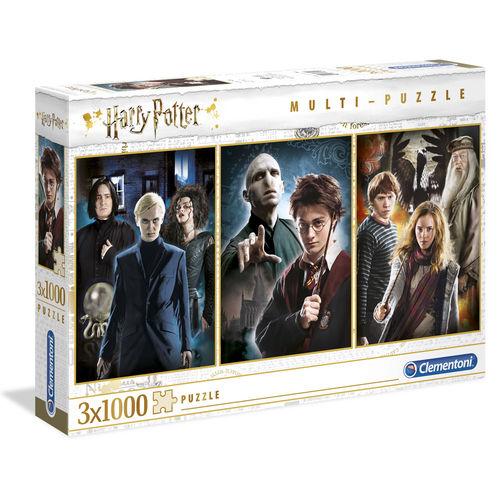 Puzzle TRIPLO Harry Potter 3x 1000 Peças Clementoni