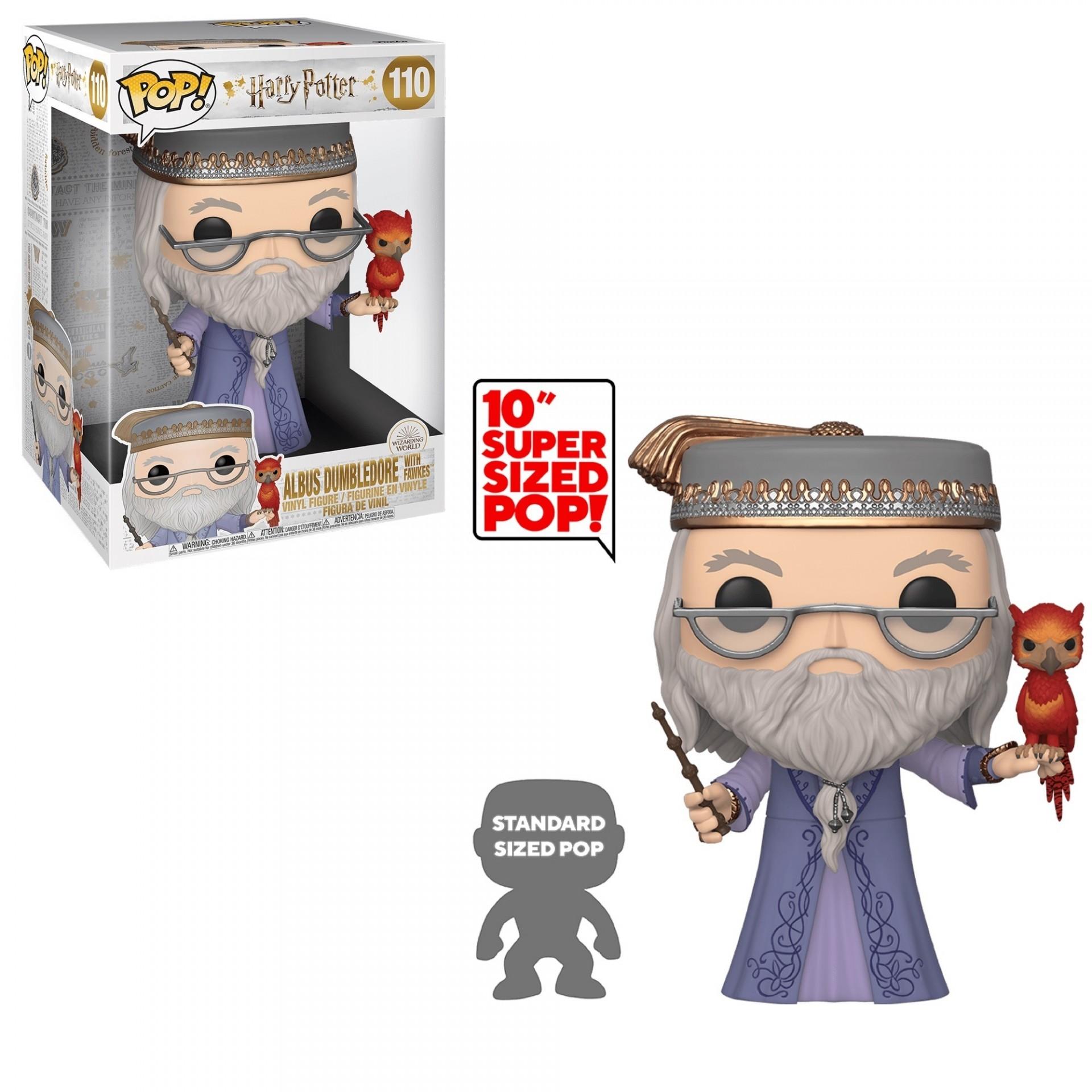 Funko! Pop Harry Potter Albus Dumbledore W/ Fawkes Supersized 10''  #110