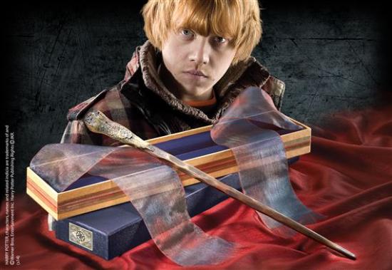 Ron Weasley Wand with Ollivanders Wand Box
