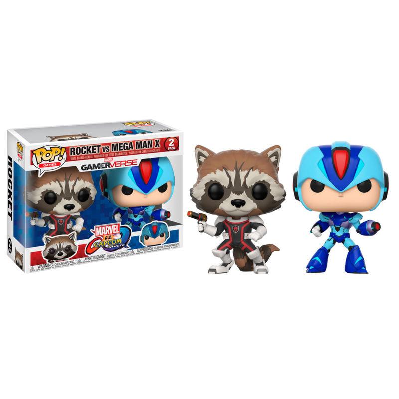 Funko! Pop Marvel vs Capcom GamerVerse Rocket vs Mega Man X Exclusive