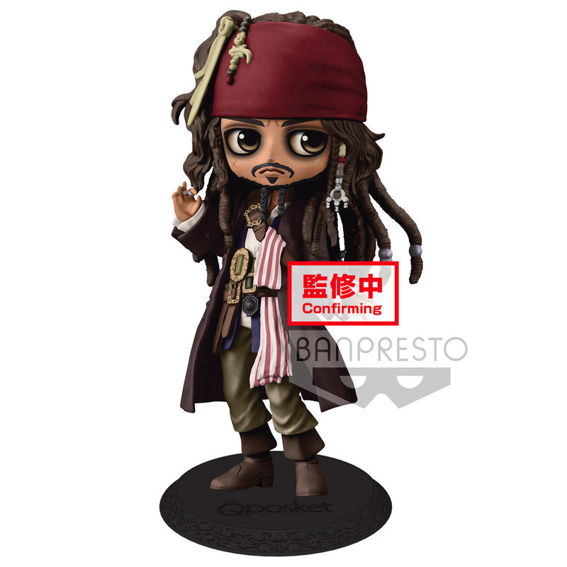 Figura Disney Pirates Of The Caribbean Jack Sparrow Q Posket A 14cm