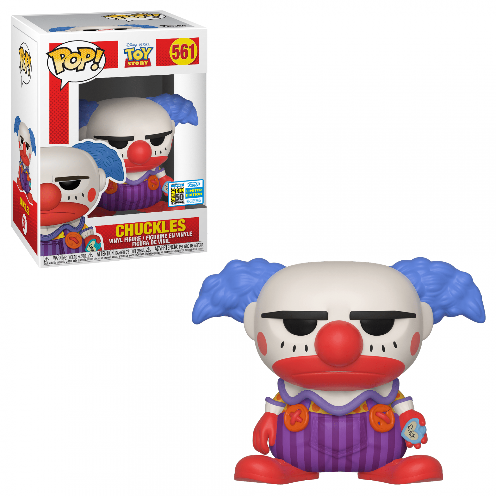 Funko! Pop Toy Story Chuckles Exclusive SDCC 19