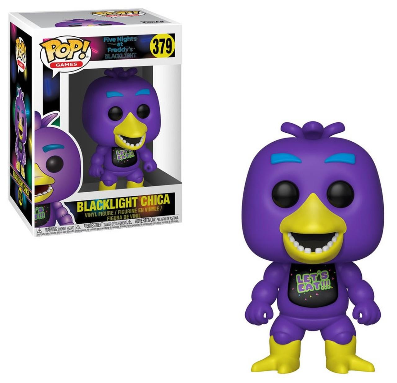 Funko! Pop Five Nights at Freddy's Blacklight Blacklight Chica #379