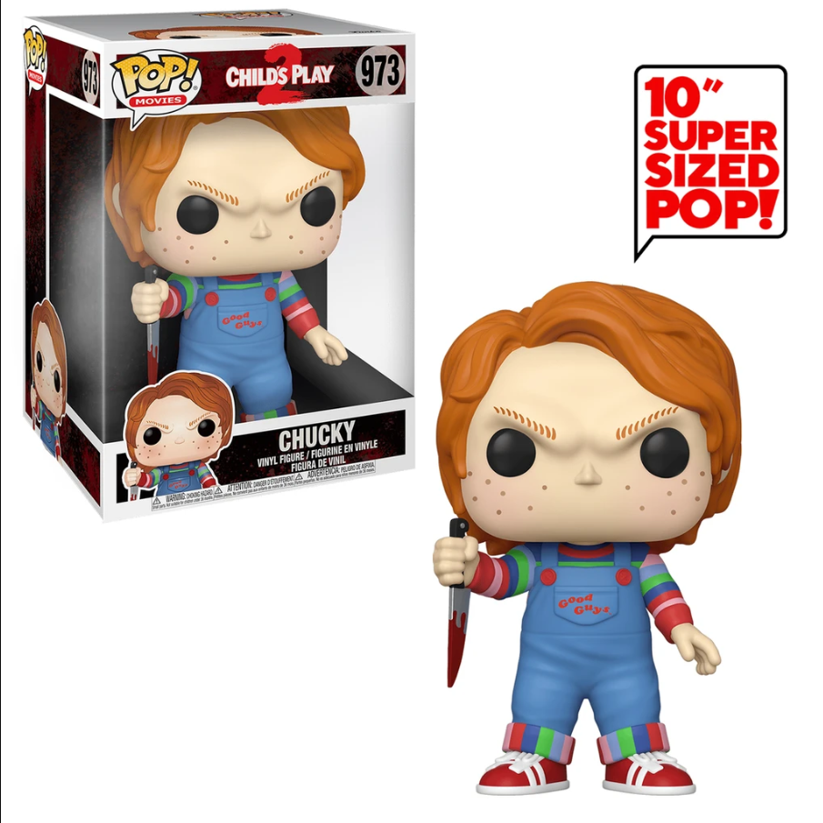 "Funko POP! Movies Child's Play 2 Chucky 10"" Super Sized #973"