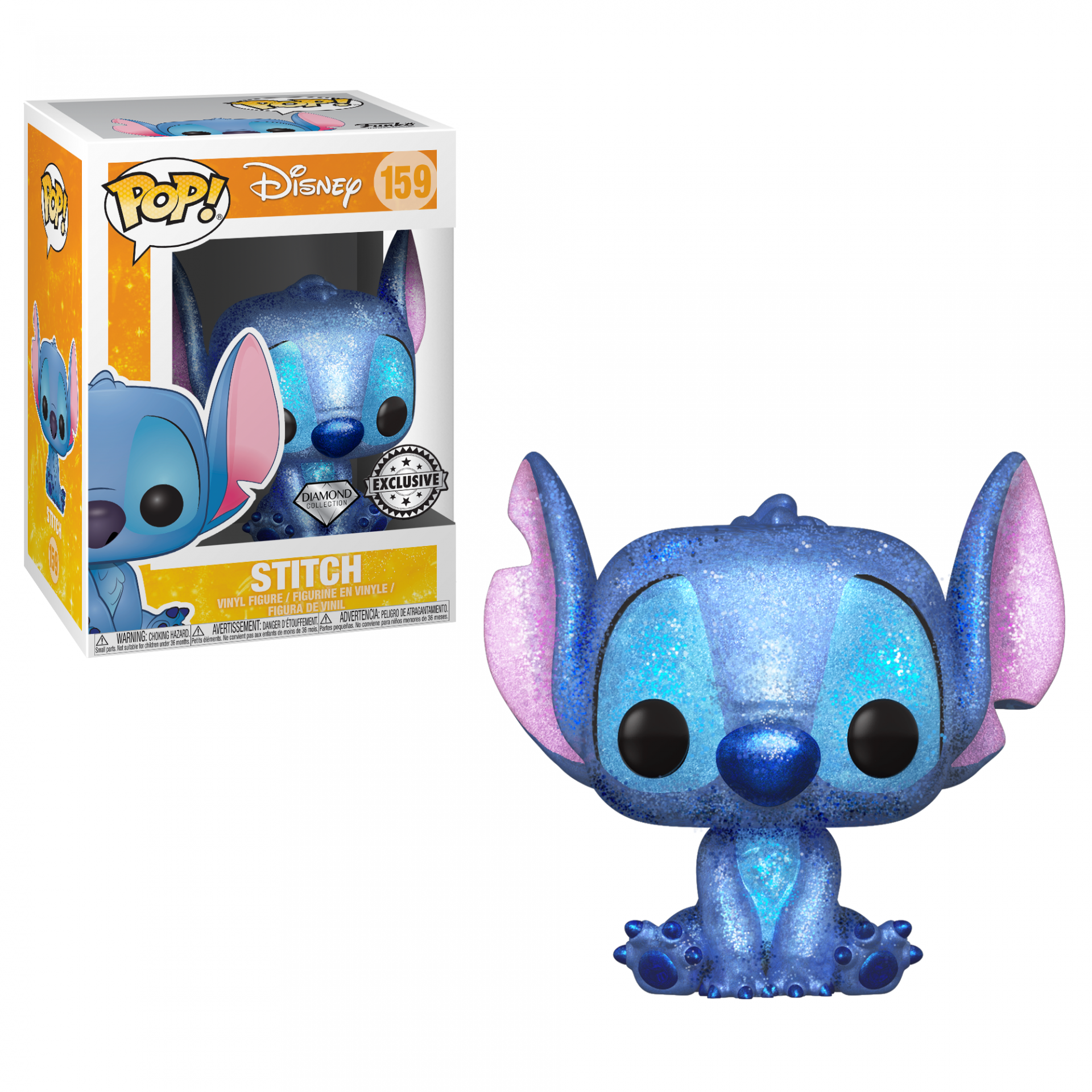 Funko POP! Disney Lilo And Stitch Stitch #159 Diamond Glitter Special Edition