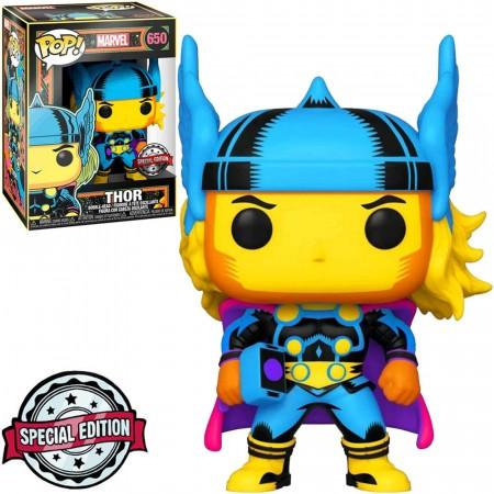 Funko POP! Marvel Black Light Thor #650 Special Edition