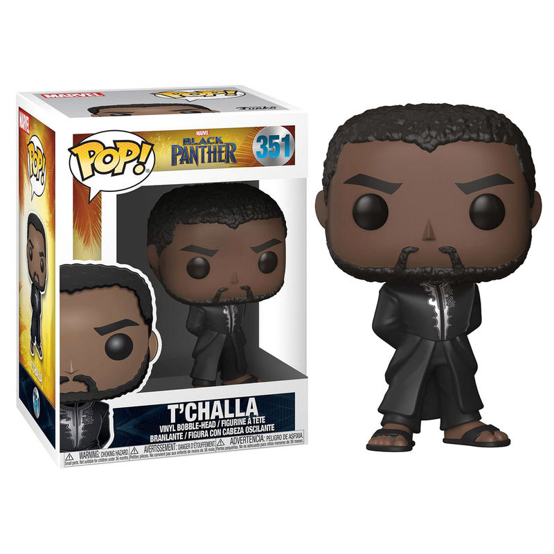 Funko! Pop Marvel Black Panther T'Challa Robe Black#351