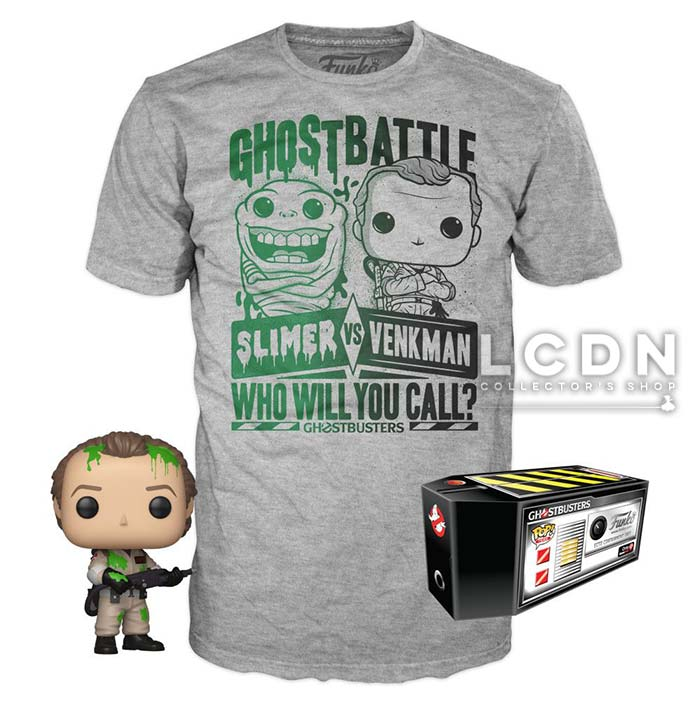 Funko POP! Tees Ghostbusters Box Dr. Peter Venkman
