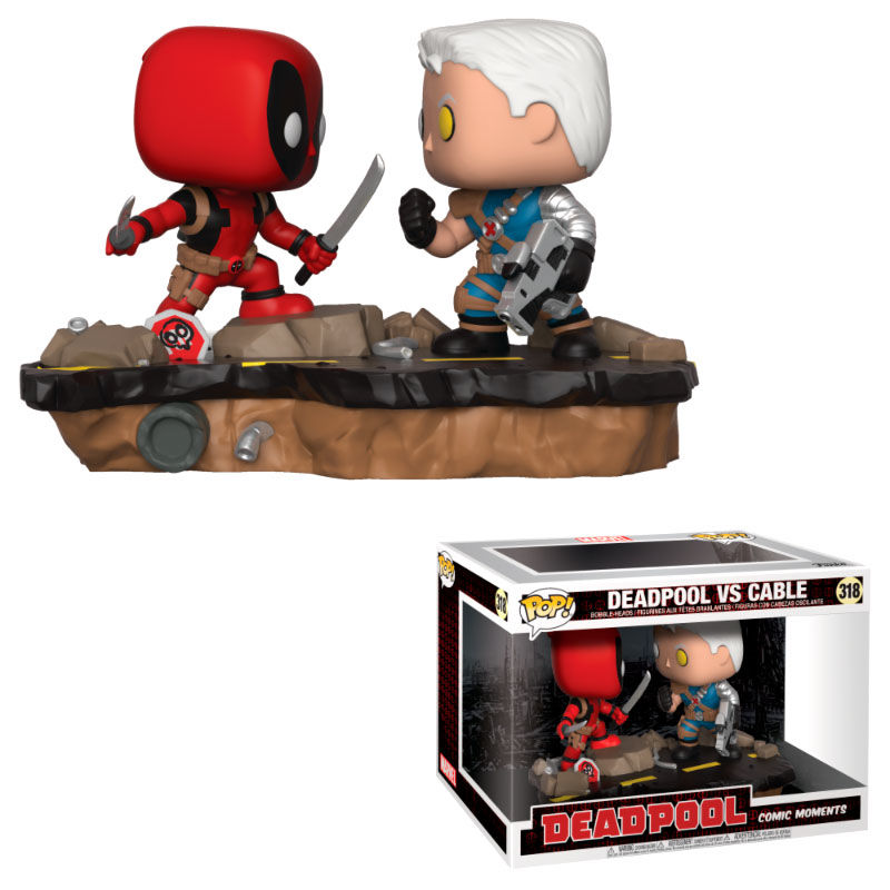 Funko! Pop Marvel Deadpool Vs Cable Movie Moment