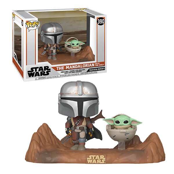 Funko POP! Movie Moments Star Wars The Mandalorian With The Child #390