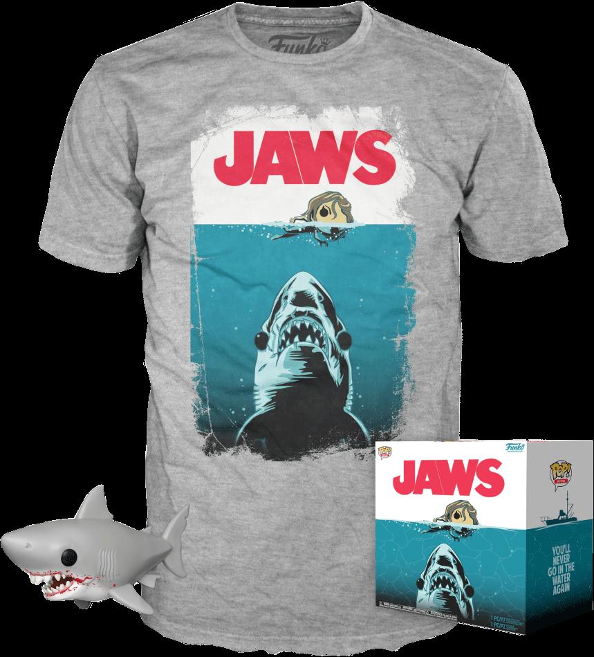 Funko POP! Tees Jaws Box Bloody Great White Shark