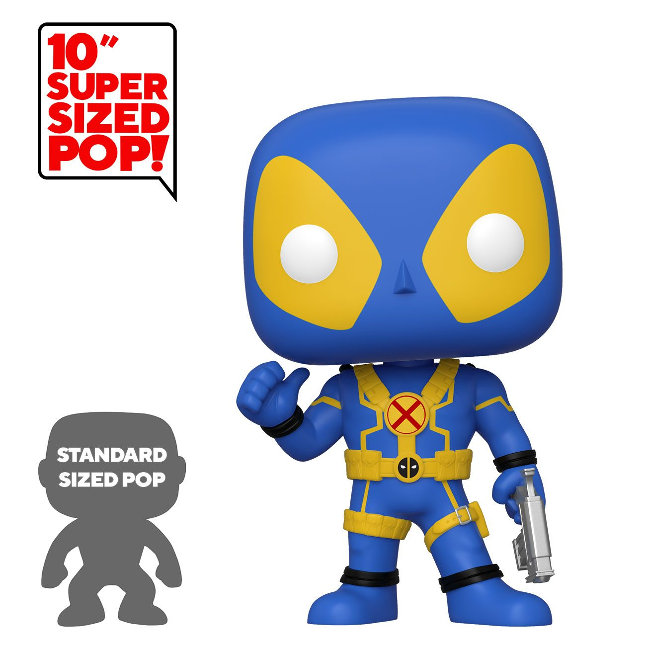 Funko! Pop Deadpool Thumbs Up Supersized 10 Polegadas #548 BLUE