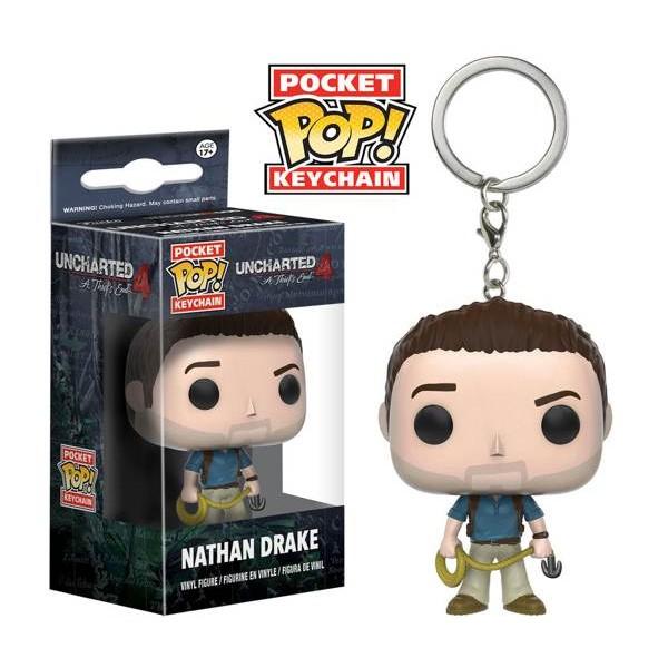 Funko Pop Pocket Keychain Uncharted 4 Nathan Drake