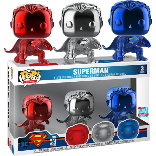 Funko POP! Heroes DC Superman 3 Pack Exclusive Limited Edition