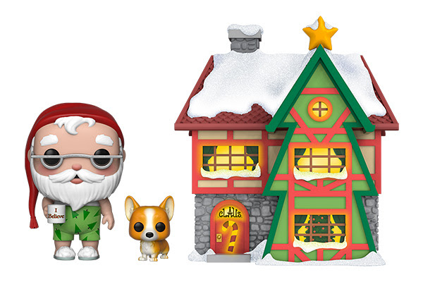Funko POP! Pepermint Lane Santa Clause House with Santa and Nutmeg (with Lights) #01