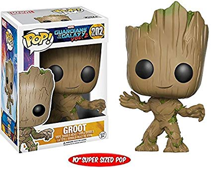 Funko! Pop Guardians of the Galaxy Groot supersized 10 polegadas