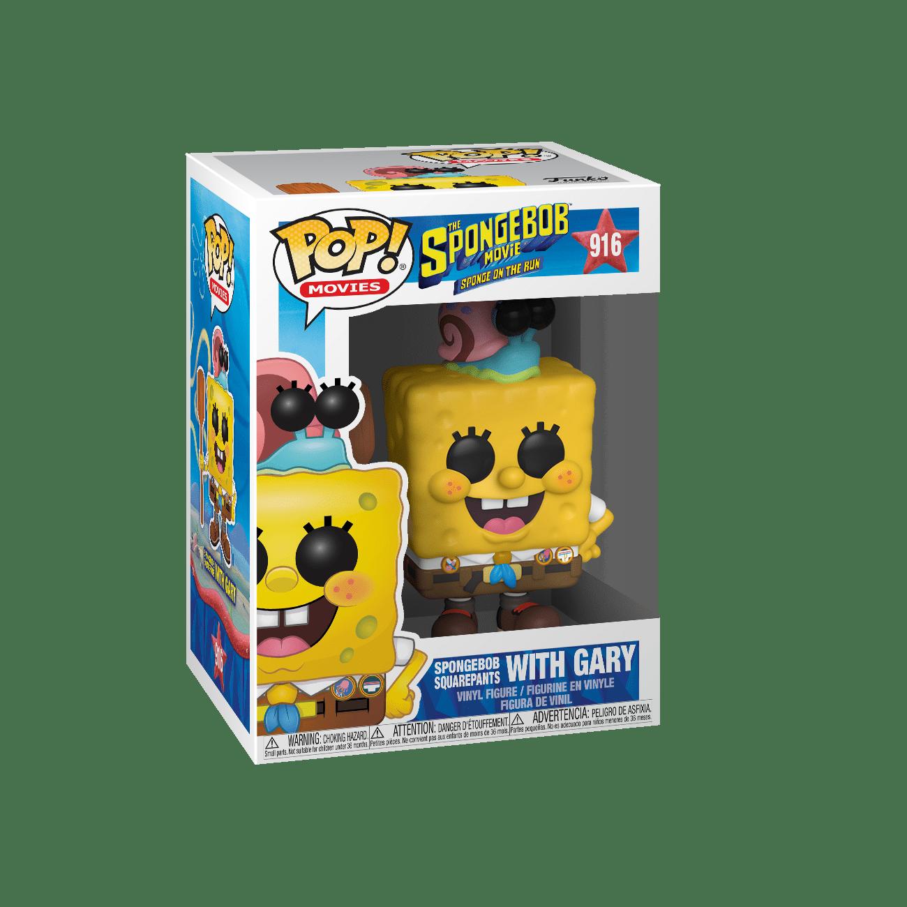 Funko POP! Sponge On The Run Spongebob Square Pants With Gary #916