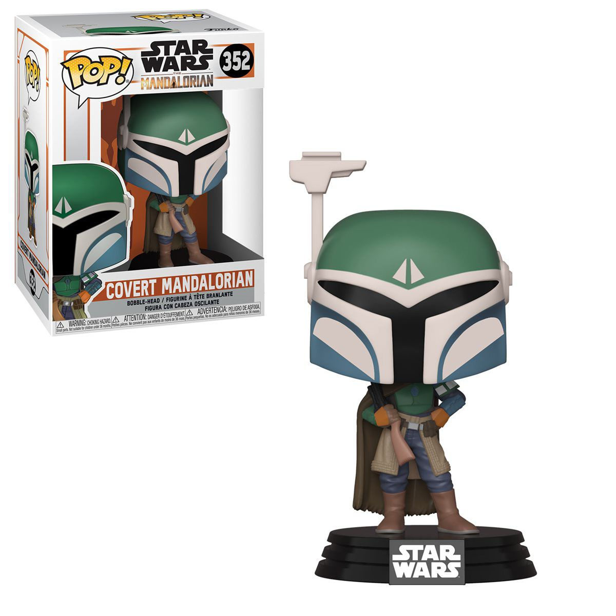 Funko! Pop Star Wars Mandalorian Covert Mandalorian #352