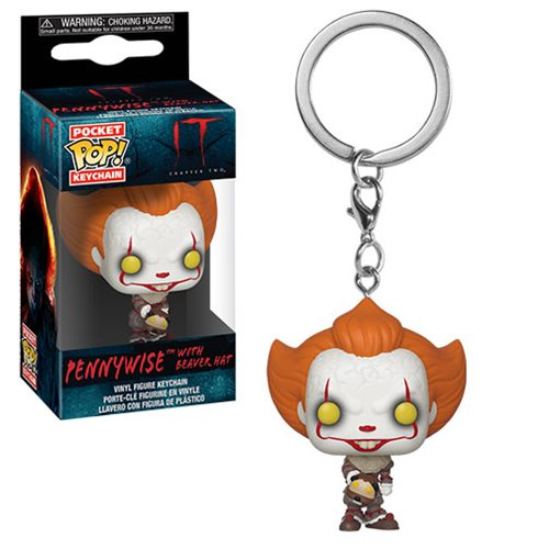 Funko Pocket POP! Keychain IT Pennywise with Beaver Hat