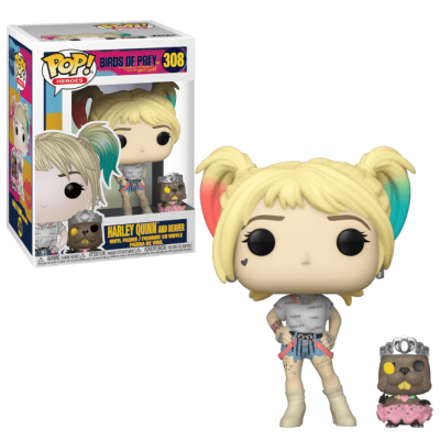 Funko POP! Birds of Prey Harley Quinn and Beaver #308