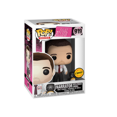 Funko! Pop Movies Fight Club Narrator With Power Animal #919 CHASE