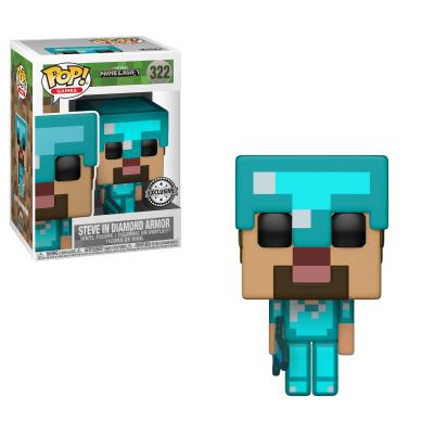 Funko! Pop Minecraft Steve In Diamond Armor Exclusive #322