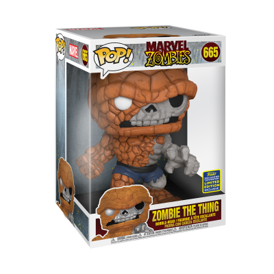 """Funko POP! Marvel Zombies Zombie The Thing 10"""" Super Sized #665 SDCC2020 Exclusive"""