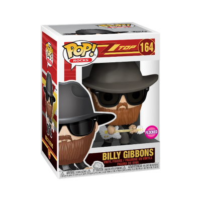 Funko! Pop Rocks ZZ Top Billy Gibbons #164 Flocked