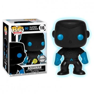 Funko POP! DC Super Heroes Aquaman Silhouette #16 GITD Exclusive