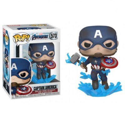 Funko! Pop Avengers End Game Captain America with Mjolnir
