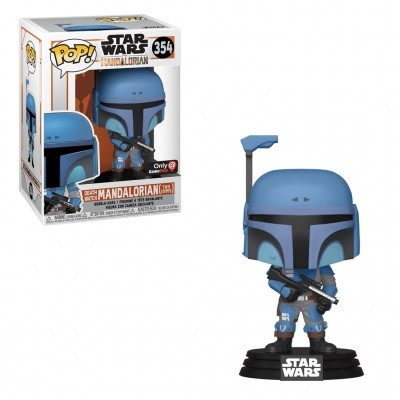 Funko POP! Star Wars The Mandalorian Death Watch Mandalorian Two Stripes #354 Special Edition